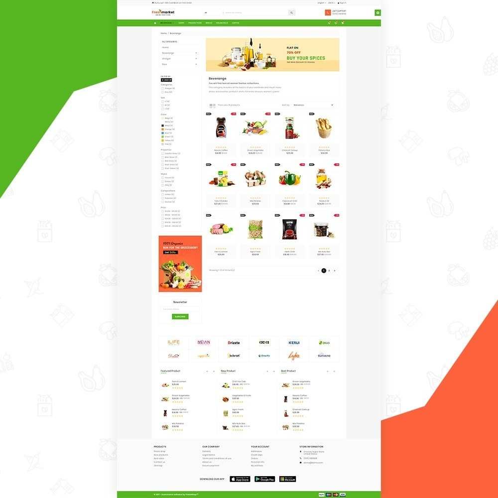 theme - Продовольствие и рестораны - Fresh Market – Food Super Store v3 - 3