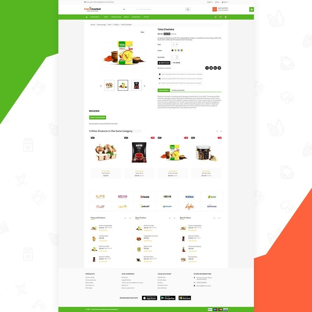 theme - Продовольствие и рестораны - Fresh Market – Food Super Store v3 - 4