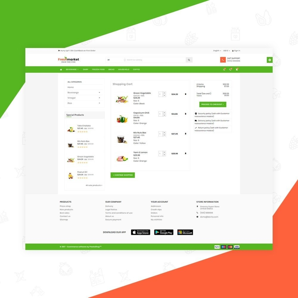 theme - Продовольствие и рестораны - Fresh Market – Food Super Store v3 - 5
