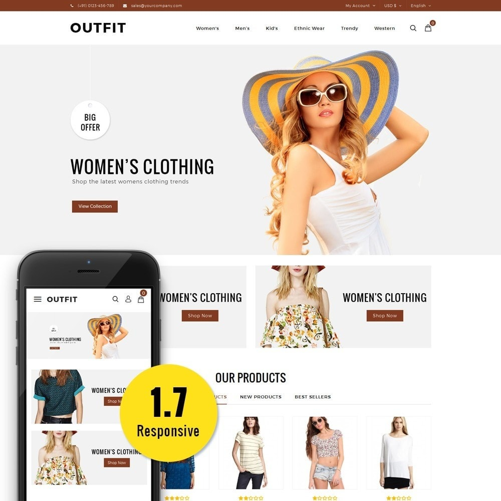 theme - Moda & Obuwie - Outfit Fashion Store - 1