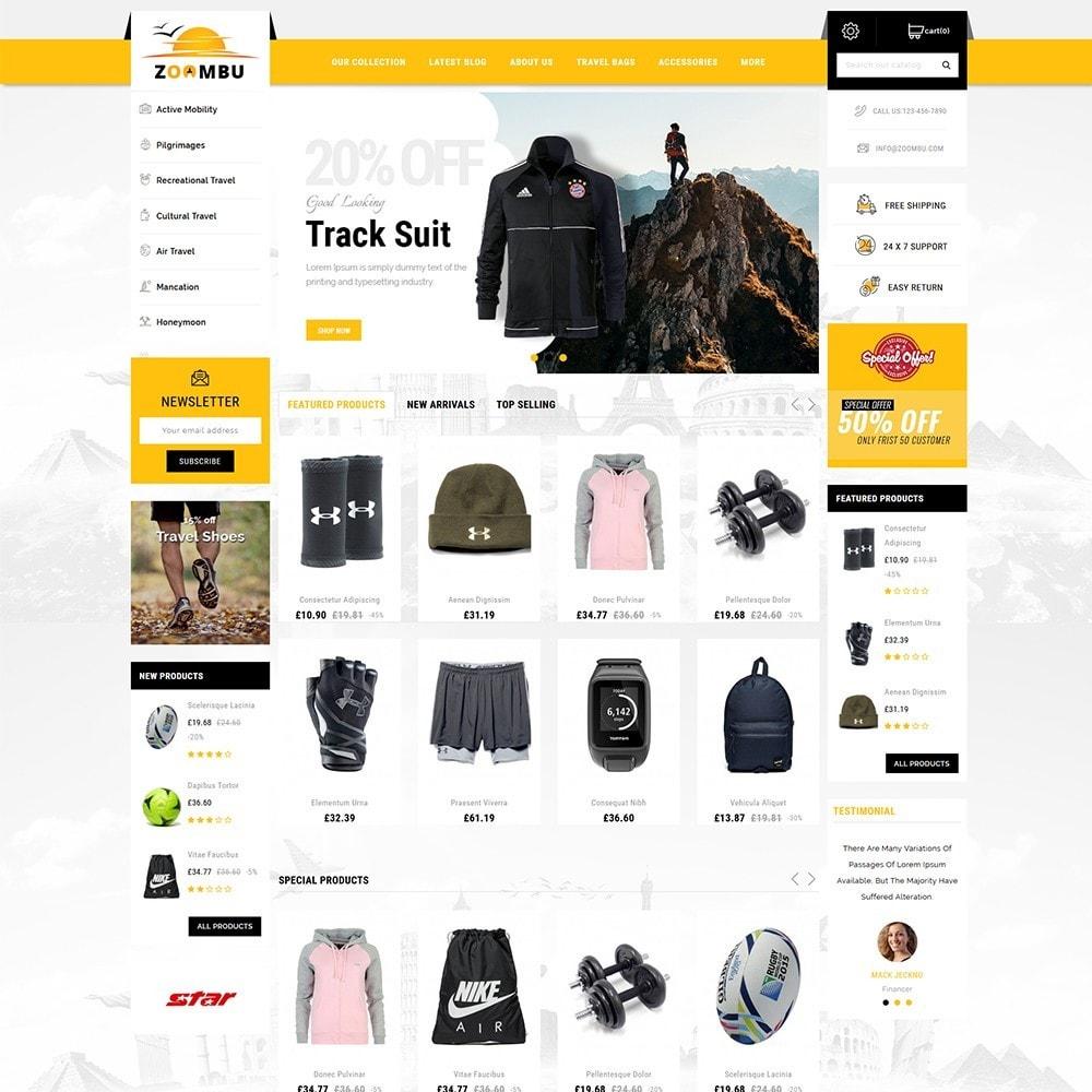 theme - Sport, Loisirs & Voyage - Zoombu Travel Store - 2