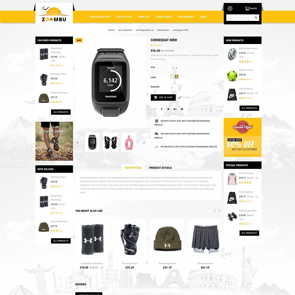 theme - Sport, Loisirs & Voyage - Zoombu Travel Store - 5