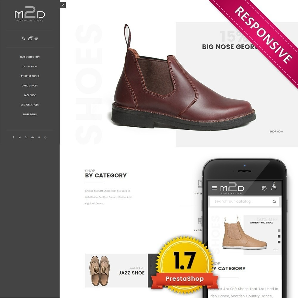 theme - Mode & Chaussures - M2D Footwear - 1