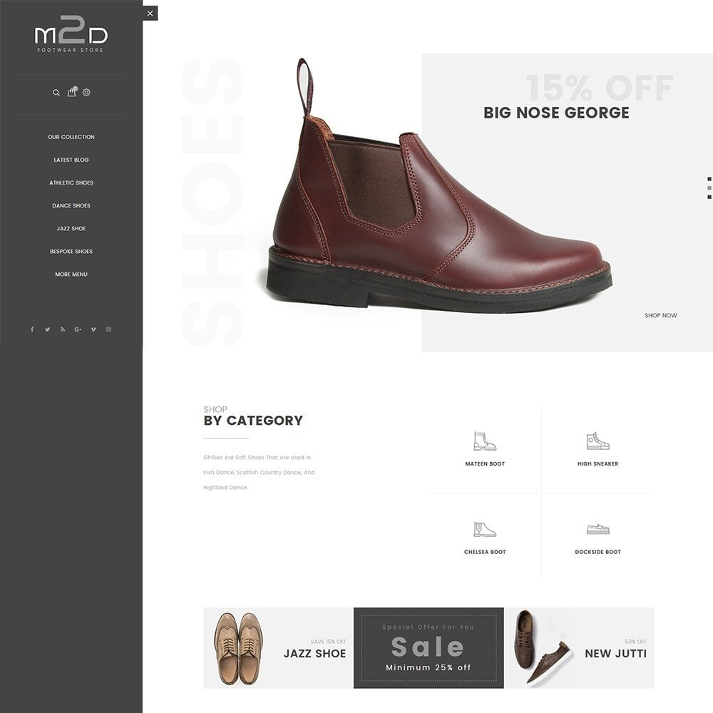 theme - Mode & Chaussures - M2D Footwear - 2
