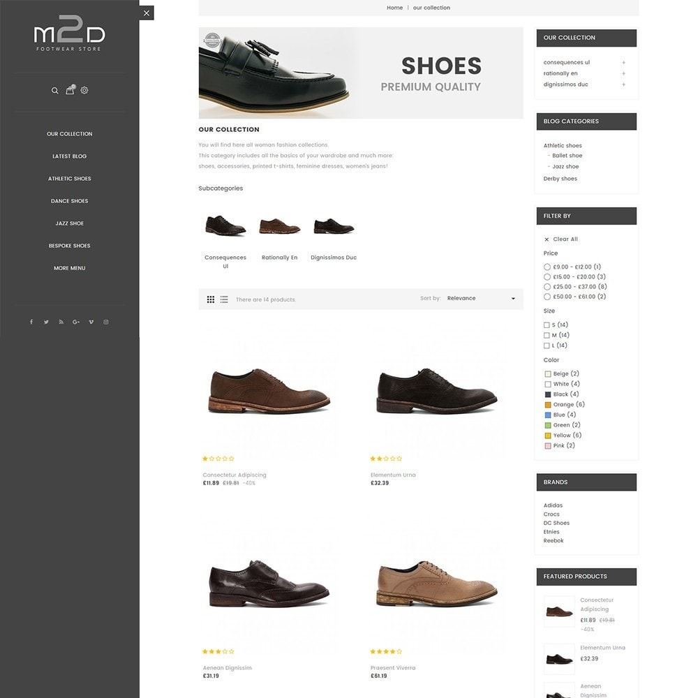 theme - Mode & Chaussures - M2D Footwear - 4