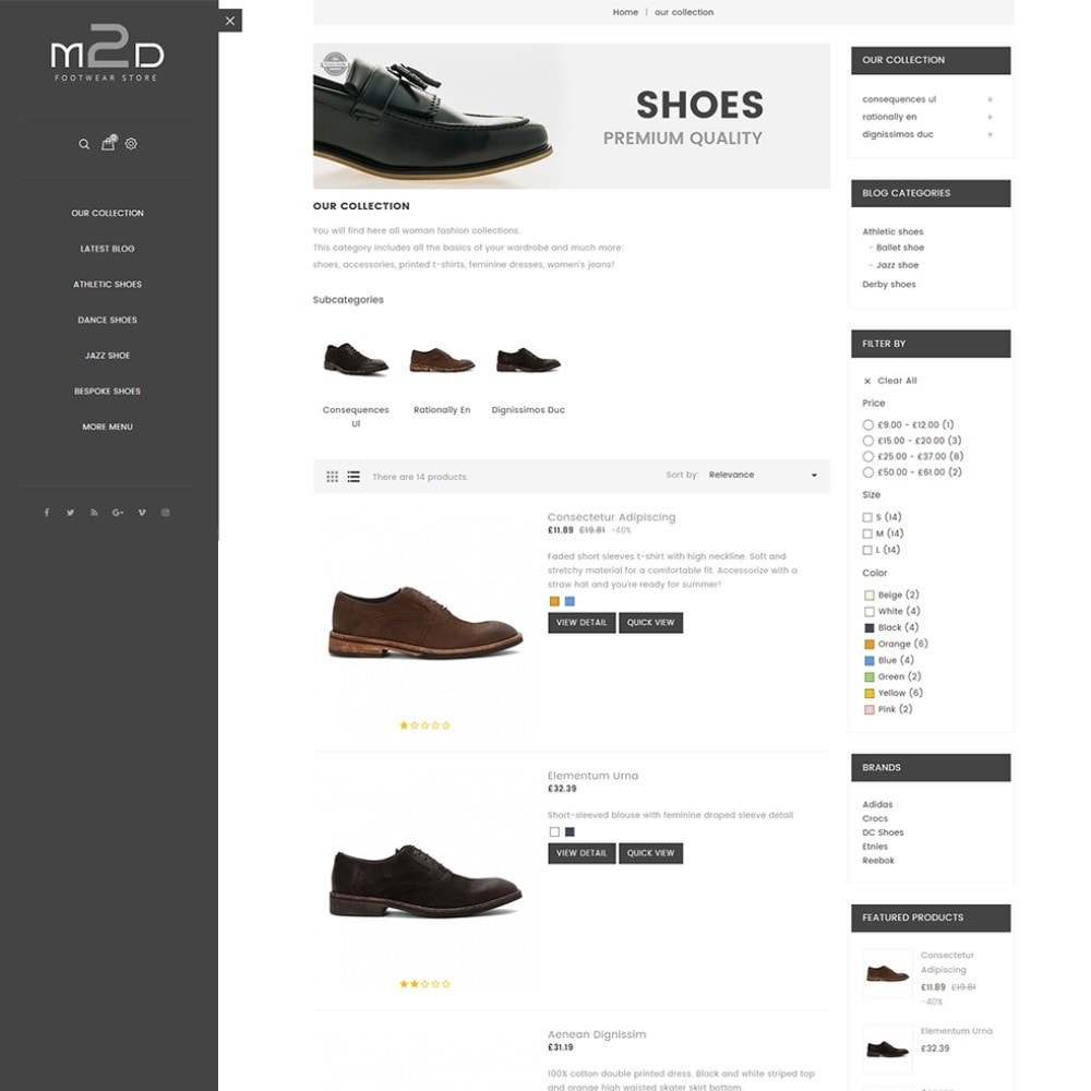 theme - Mode & Chaussures - M2D Footwear - 5