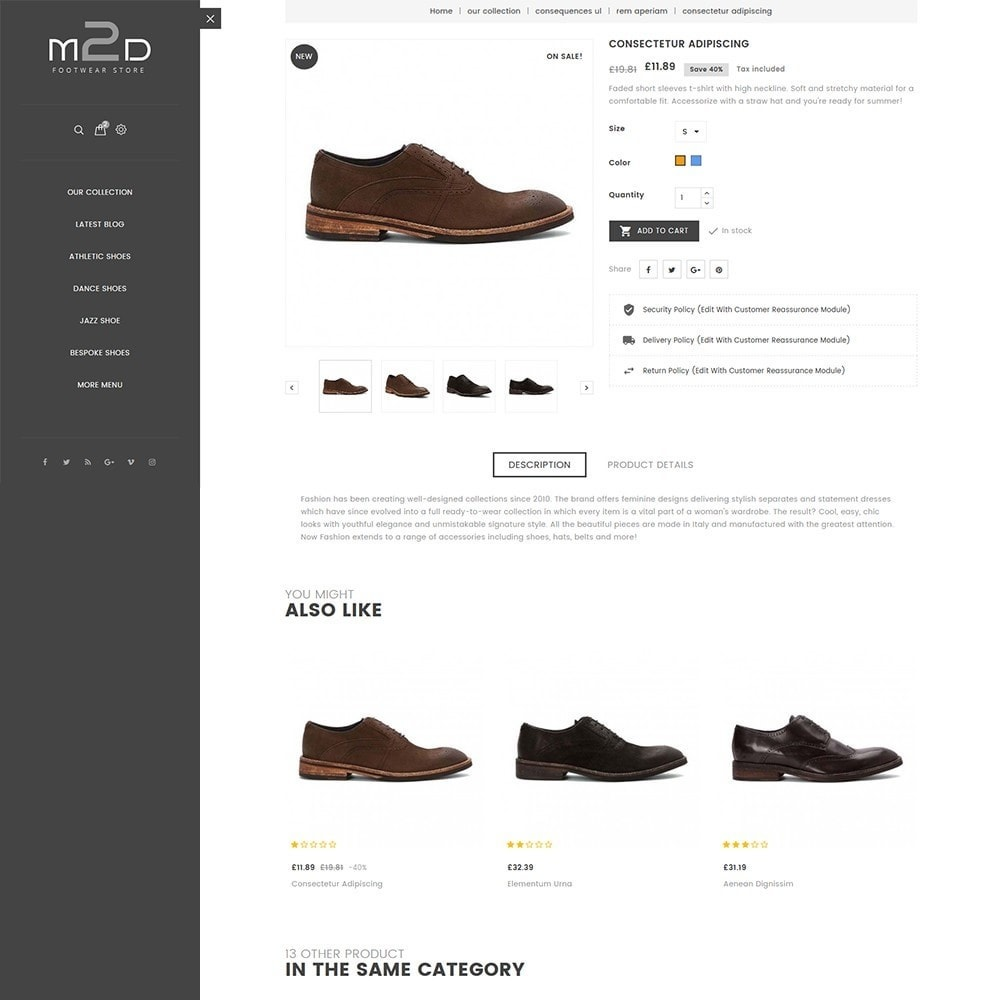 theme - Mode & Chaussures - M2D Footwear - 7