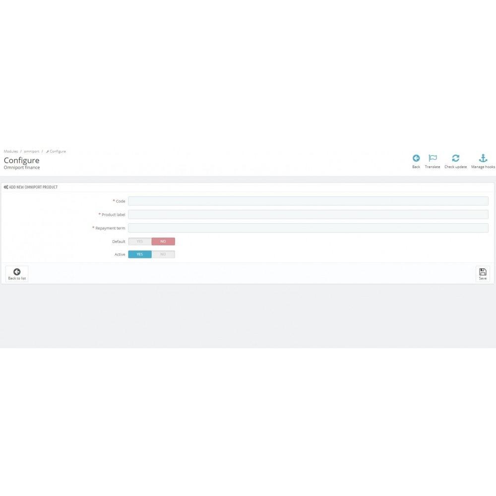 module - Altri Metodi di Pagamento - Omni Capital Installment - 3