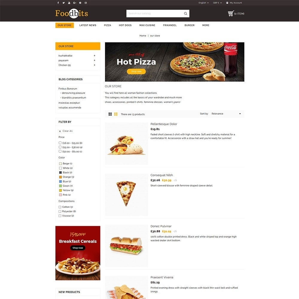 theme - Alimentos & Restaurantes - Foodbits Restaurant - 5