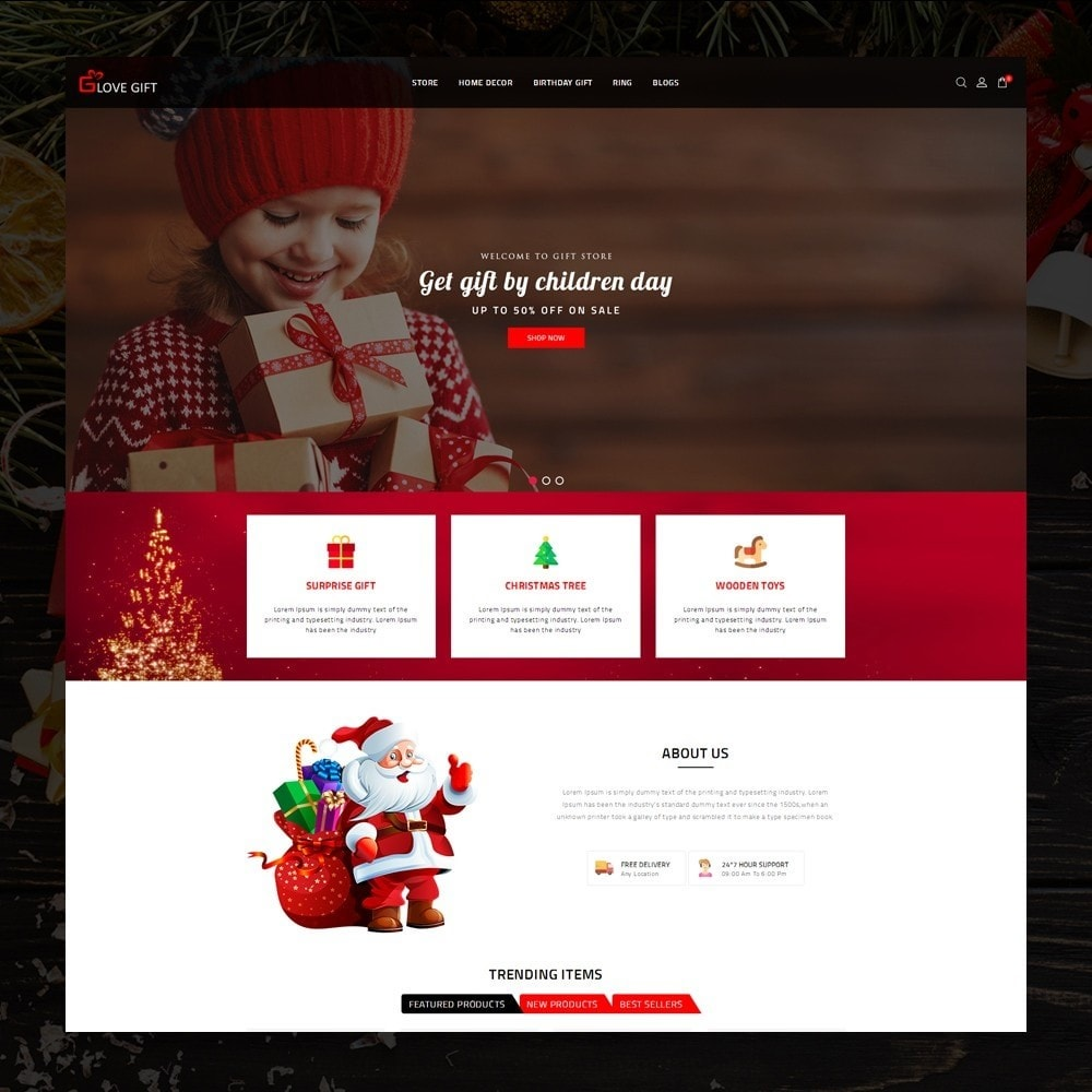 theme - Подарки, Цветы и праздничные товары - LoveGift - Gift Shop - 2
