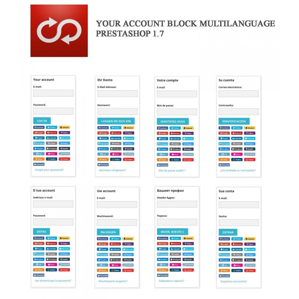 module - Social Login & Connect - MultiLogin 22 in 1 + Statistics - 5