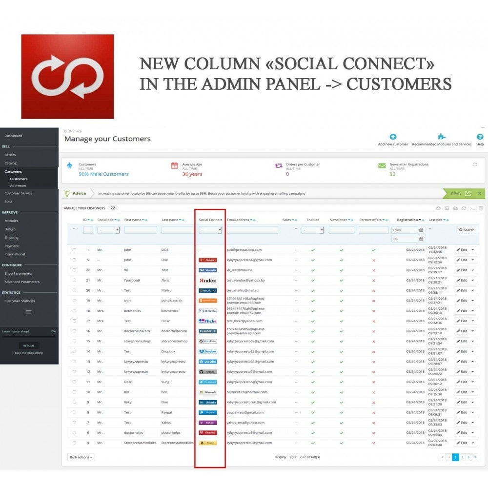 module - Social Login & Connect - MultiLogin 22 in 1 + Statistics - 15