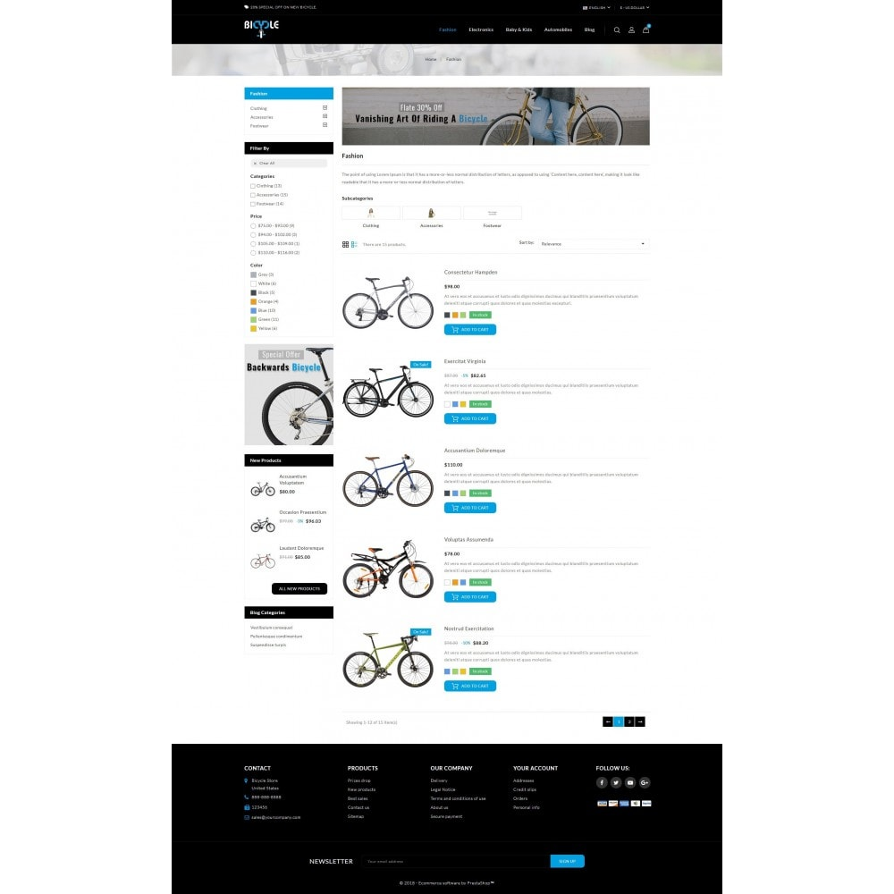 theme - Auto & Moto - Bicycle Store - 4