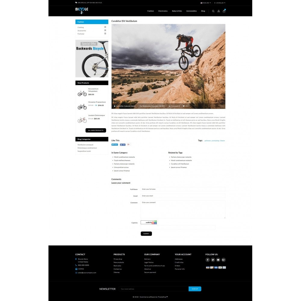 theme - Auto & Moto - Bicycle Store - 9