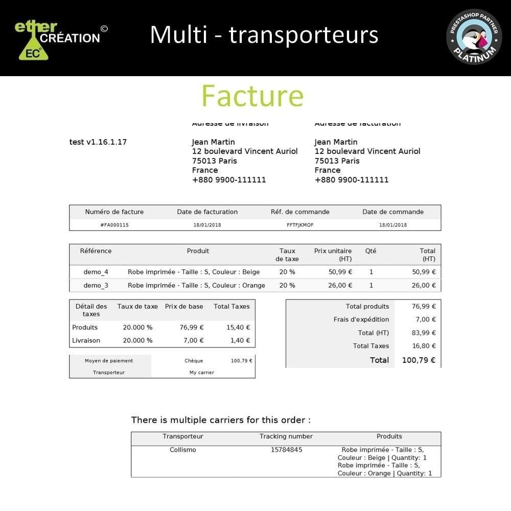 module - Transporteurs - Multi transporteur & Multi suivi - 6