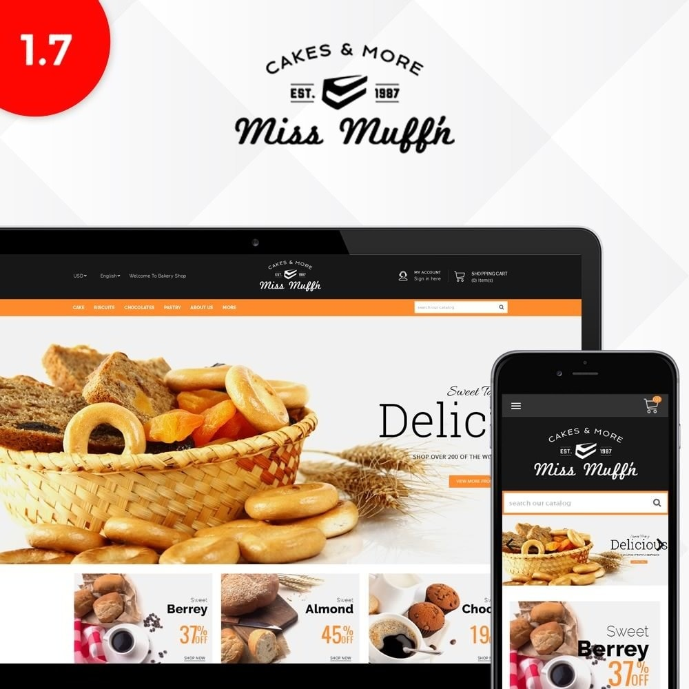 theme - Alimentation & Restauration - Bakery Store - 1