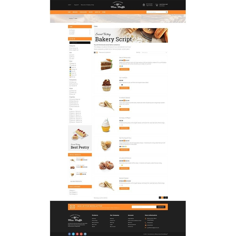theme - Alimentation & Restauration - Bakery Store - 4