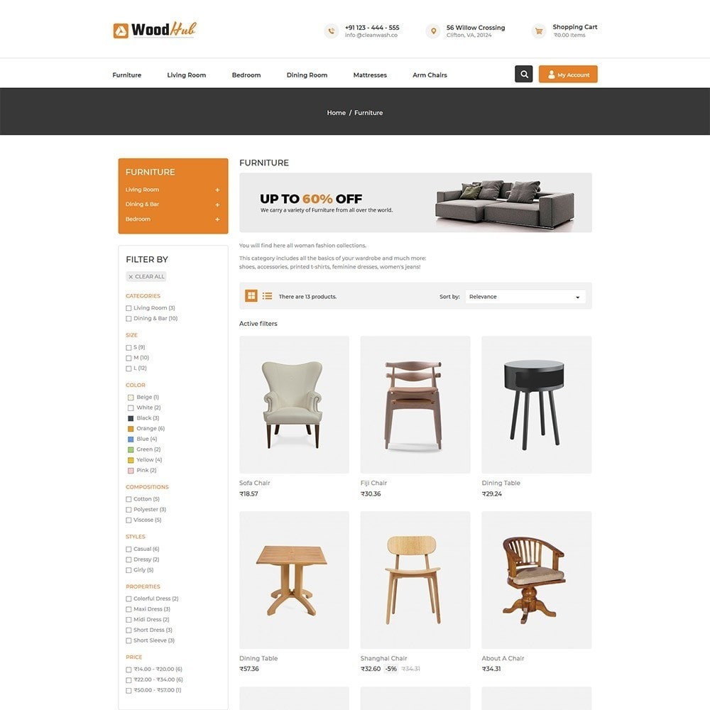 theme - Casa & Jardins - Woodhub Furniture Store - 3