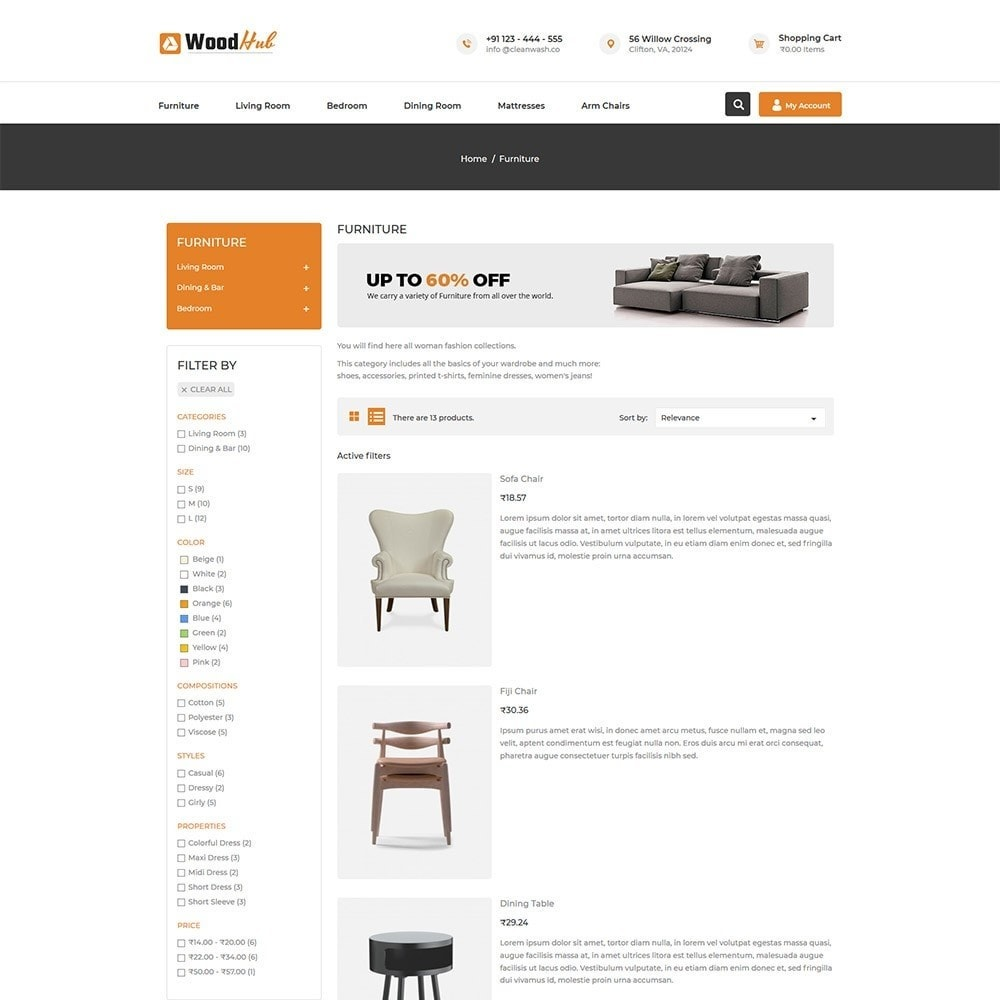 theme - Casa & Jardins - Woodhub Furniture Store - 4