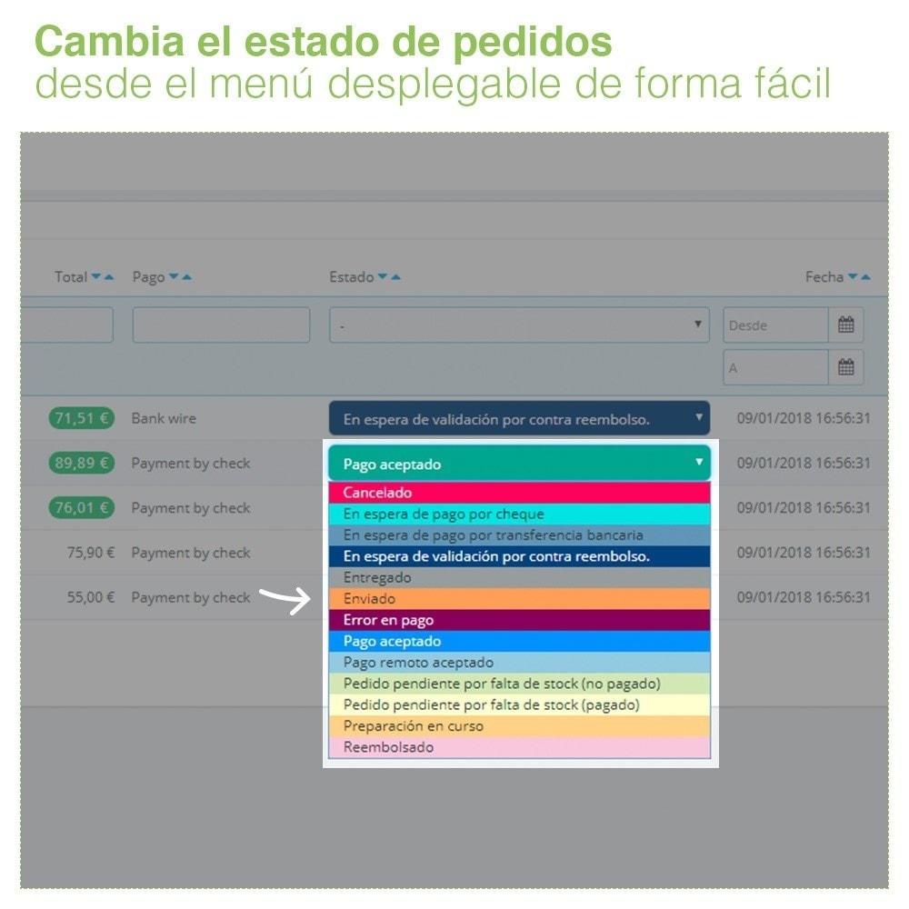 module - Gestión de Pedidos - Cambiar Estado de Pedidos desde el Listado de Pedidos - 4