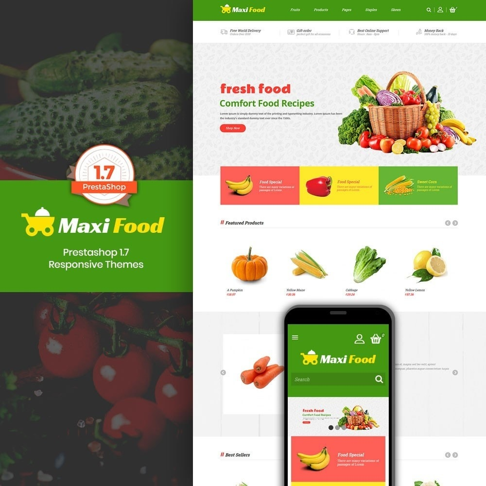 theme - Alimentation & Restauration - Maxi Food Store - 1