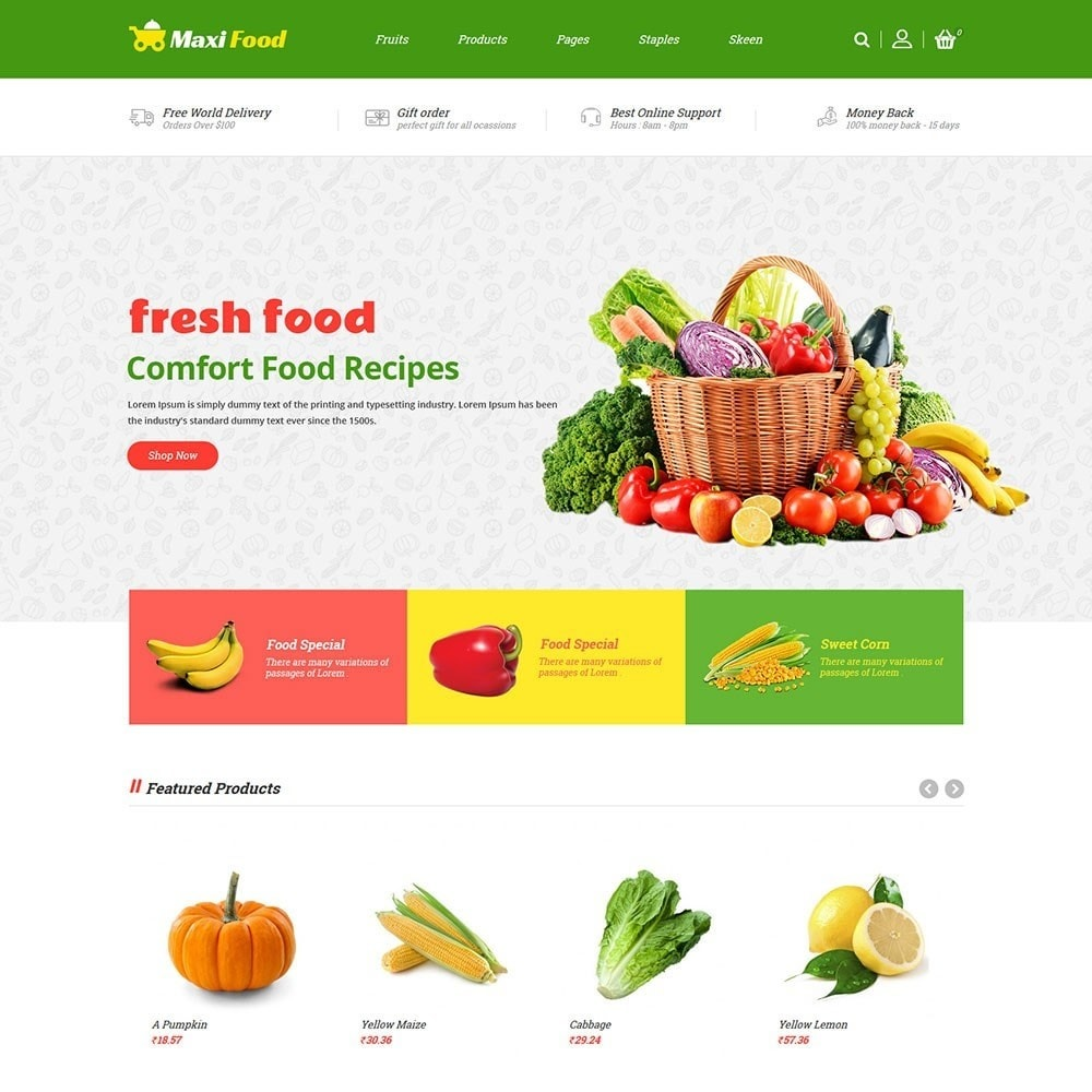 theme - Alimentation & Restauration - Maxi Food Store - 2