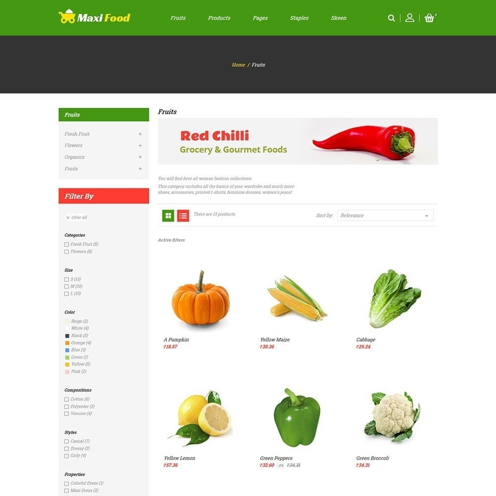 theme - Alimentation & Restauration - Maxi Food Store - 3