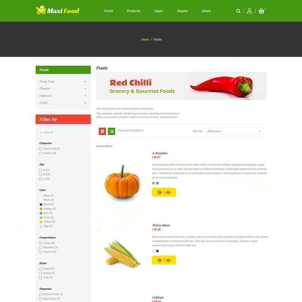 theme - Food & Restaurant - Maxi Food Store - 5