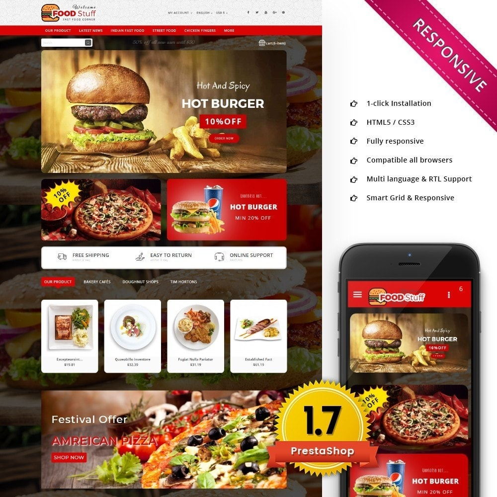 theme - Lebensmittel & Restaurants - Foodstuff Restaurant - 1