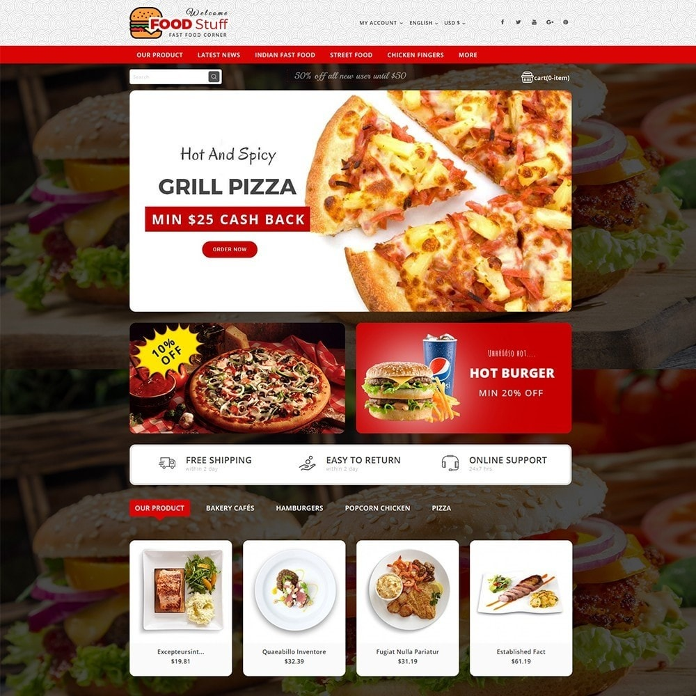 theme - Lebensmittel & Restaurants - Foodstuff Restaurant - 2