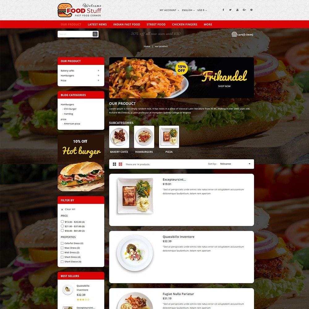 theme - Lebensmittel & Restaurants - Foodstuff Restaurant - 5
