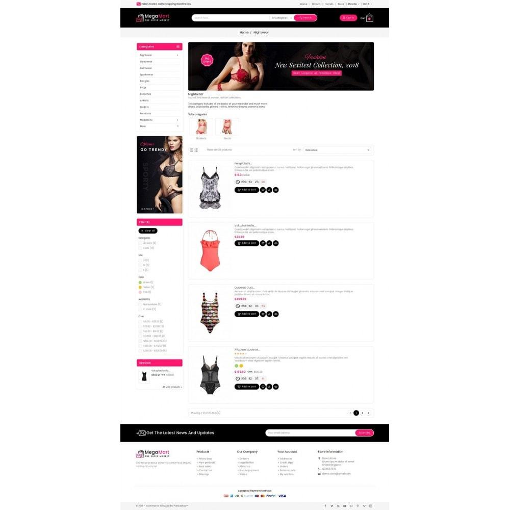 theme - Lingerie & Adultos - Mega Mart Sexy Lingerie - 4