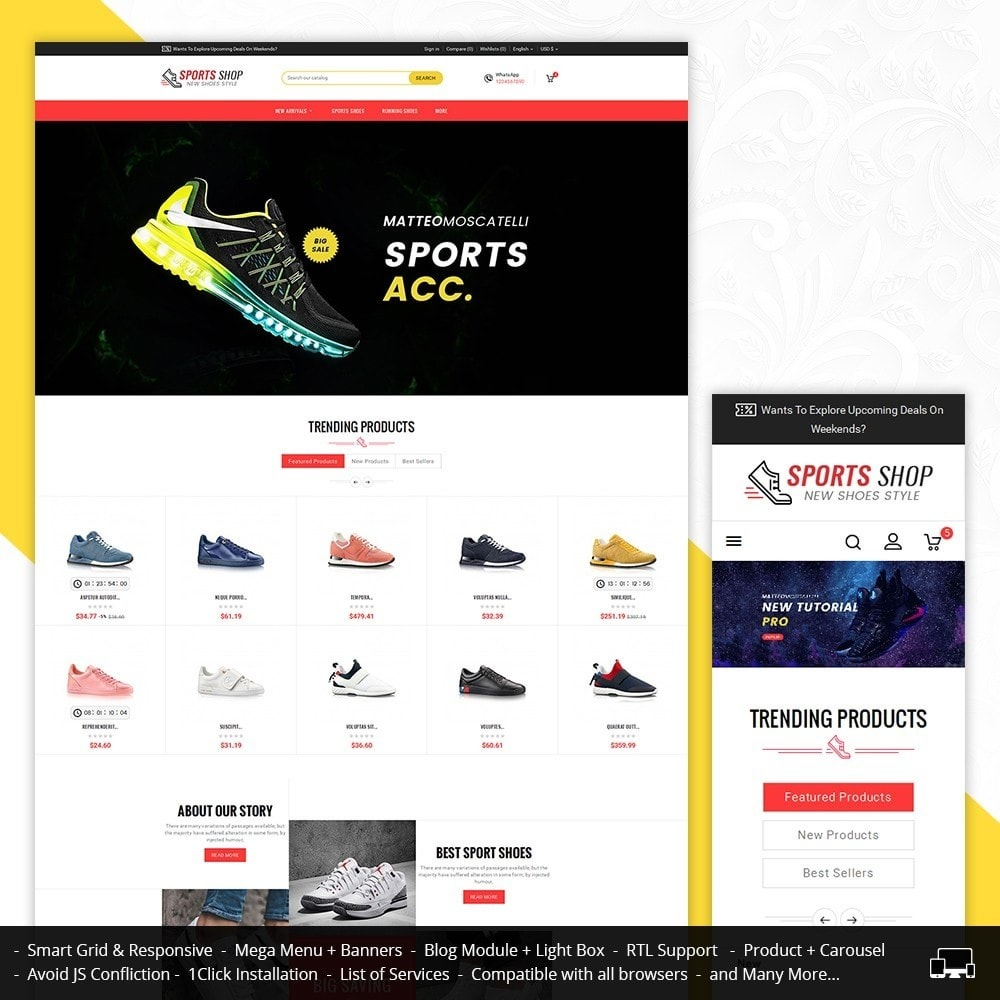 theme - Sports, Activities & Travel - Sport Shoes & Footwear - 1