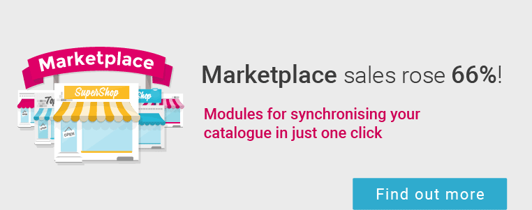 Give your products maximum visibility by selling them on the marketplaces!